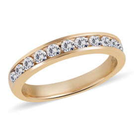 New York Close Out-14K Yellow Gold Diamond (Rnd) (I1/G-H) Half Eternity Ring 0.500 Ct.
