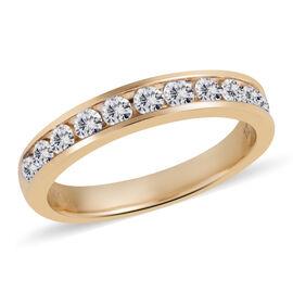 New York Close Out-14K Yellow Gold Diamond (Rnd) (I1/G-H) Half Eternity Ring 0.500 Ct.