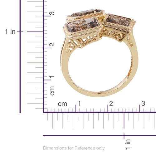 Brazilian Smoky Quartz (Oct) Ring in 14K Gold Overlay Sterling Silver 5.750 Ct.