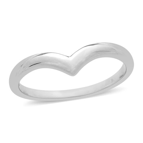 9K White Gold Wishbone 3.7 mm Plain Band Ring, Gold wt. 2.32 Gms.