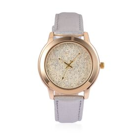 Swarovski Watch Collection- Japanese Movement White Dial Water Resistant GENOA Watch with Silver Colour Strap