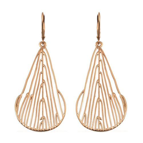 14K Gold Overlay Sterling Silver Lever Back Earrings, Silver wt 9.92 Gms.