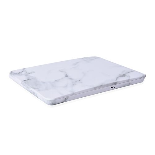 Stylish Marble Look 36 LED Rechargeable Tablet Mirror with Touch Sensor and USB Cable (Size 19x25.2x2.4 Cm)