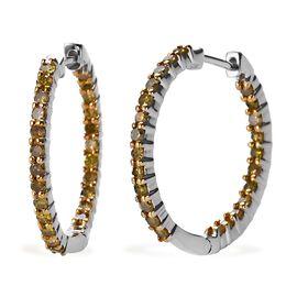 Diamond 9K W Gold Earring  1.000  Ct.