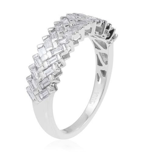 ILIANA 18K White Gold IGI CERTIFIED Diamond (Bgt) (SI/G-H) Ring  0.500 Ct.