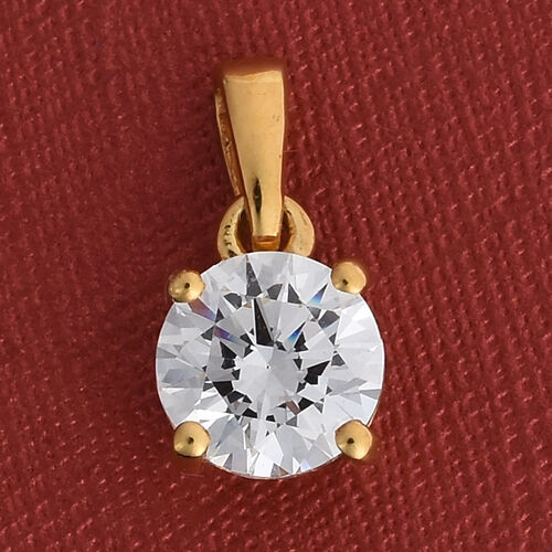J Francis 14K Gold Overlay Sterling Silver Pendant Made with SWAROVSKI ZIRCONIA