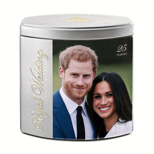 AHMAD TEA Harry and Meghan Royal Wedding Tea Gift Silver. 25 Tea Bags