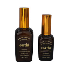 Shungite Enriched Earthi  Amla and Reetha Purifying Hair Conditioner with complementary Green Tea an