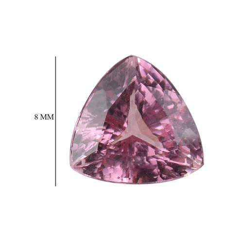 Rose Spinel Trillion 8 Faceted 1A 1.76 Cts