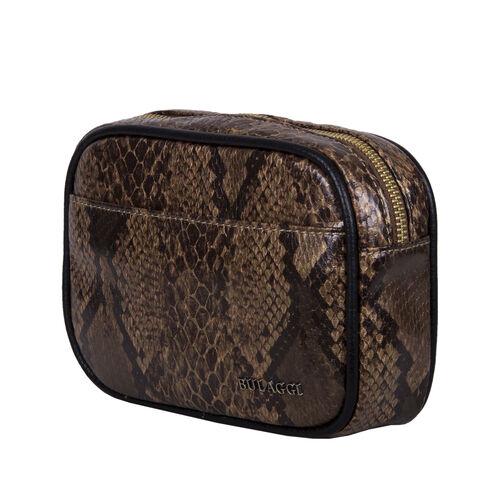 Bulaggi Collection Protea Snake Skin Print Crossbody Bag - Camel