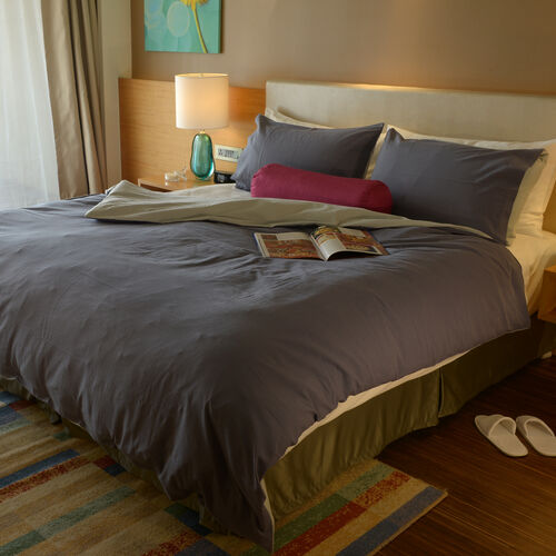 100% Cotton Blue Colour Double Duvet Cover (Size 200x200 Cm) and 2 Pillow Case (Size 75x50 Cm)