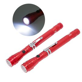 Set of 2 - 360 Degree Flexible Head 3 LED Magnetic Flashlight (Size 17x2.2 Cm) (4XCR44 Battery Inclu
