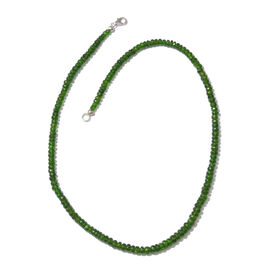 Limited Edition- Russian Diopside (Rnd) Beads Necklace (Size 20) in Platinum Overlay Sterling Silver  115.000 Ct.