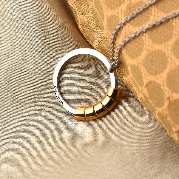 "Personalised Engraved Secret Name Circle Necklace, Size 20"""