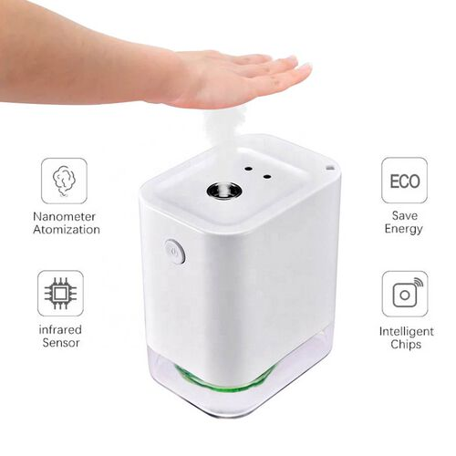 Portable Automatic Alcohol Disinfection Sprayer with 1800mAh Rechargeable Battery (Size 9.1x7.7x5.73