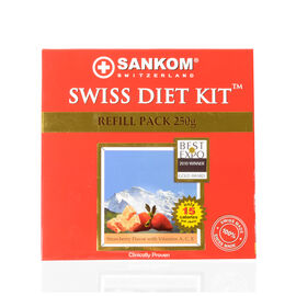 SWISS DIET KIT - 2 Weeks PACK  -  250G  -Strawberry Flavor