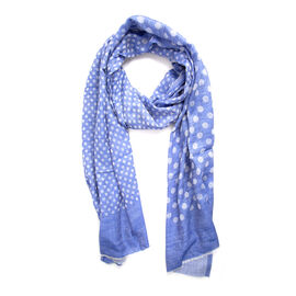 100% Cashmere Wool Blue Colour Ultra Soft Scarf (Size 200X70 Cm)