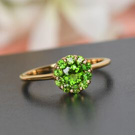 Russian Diopside Ring in 14K Gold Overlay Sterling Silver
