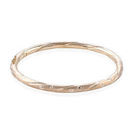 Royal Bali Diamond Cut Stacker Bangle in 9K Gold 8.50 Grams 7.5 Inch
