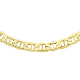 9K Yellow Gold Diamond Cut Rambo Chain (Size - 20) with Lobster Clasp, Gold Wt. 11.10 Gms