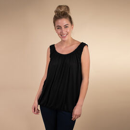 TAMSY Super Soft Vest One Size, ( Fits Size 8  to 18) - Black