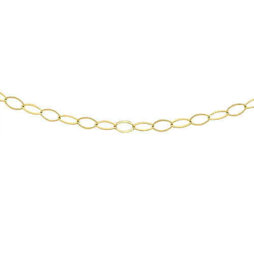 One Time Close Out Deal- 9K Yellow Gold Belcher Necklace (Size 18)