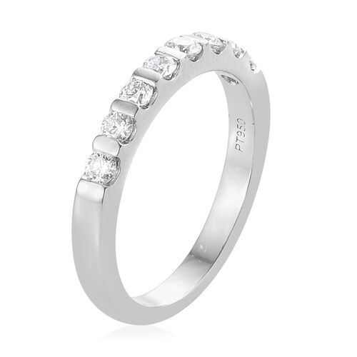 RHAPSODY 950 Platinum IGI Certified Diamond (Rnd) (VS/E-F) Band Ring 0.500 Ct., Platinum wt 5.32 Gms.