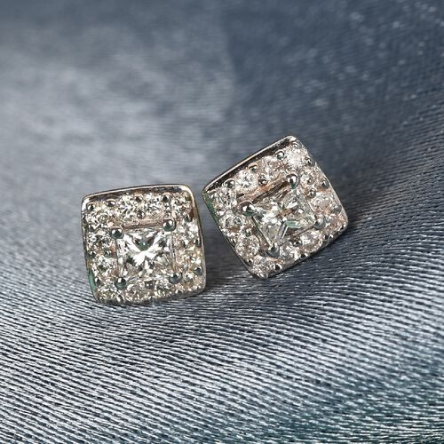 9K Yellow Gold SGL Certified Diamond (I3/G-H) Stud Earrings 0.25 Ct