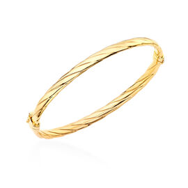 9K Yellow Gold Twist Bangle (Size 7), Gold Wt. 4.40 Gms