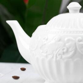 22 Piece Set - Art Deco - Porcelain Tea Set (Consists of 6 Cups, 6 Saucers, 6 Spoons, 1 Sugar Jar, 1