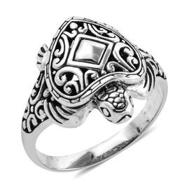 Royal Bali Collection Sterling Silver Turtle Ring, Silver wt 5.50 Gms.