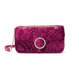 Abbott Lyon - Gigi Velvet Shoulder Bag - Raspberry