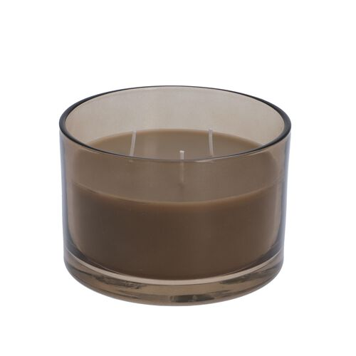 Luxurious Decorative Citronella Aromatic Candle in Glass Container (Size 15x11 Cm) - Grey - Burn Time 40 Hours