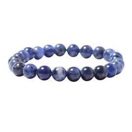 MP Sodalite Beads Stretchable Bracelet (Size 7) 88.500 Ct.