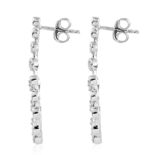 Diamond (Rnd) Earrings (with Push Back) in Platinum Overlay Sterling Silver 0.50 Ct.