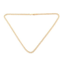 ILIANA 18K Yellow Gold Curb Necklace (Size 17.5) with Lobster Clasp, Gold wt 5.88 Gms