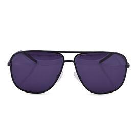 DIOR Mens Black Aviator Sunglasses with Grey Lenses