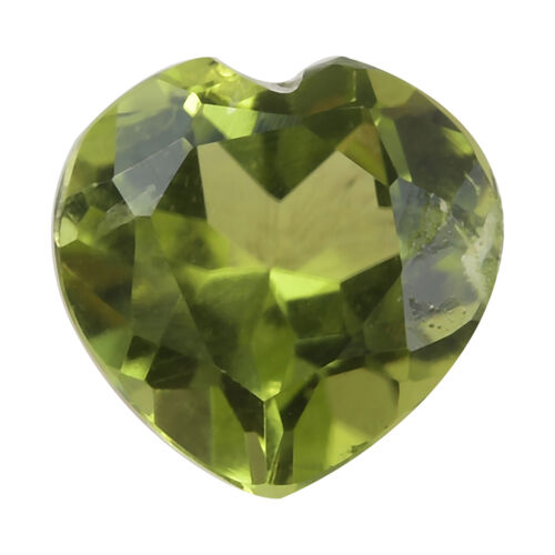 0.97 Ct AA Peridot Heart Shape Gemstone (7 mm) With Box