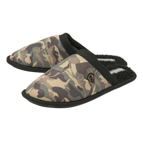 Dunlop Mens Camo Slipper Mules (Size Small)