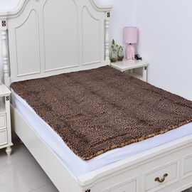 Super Soft Reversible Faux Fur Mink Leopard Pattern Blanket (Size 200x150 cm) - Total 660GSM