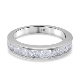 NY Close Out Deal - 14K White Gold Diamond (VS-SI/F-G) Ring in 0.50 Ct, Gold wt. 4.00 Gms