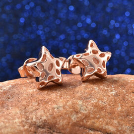 RACHEL GALLEY Shimmer Collection - Rose Gold Overlay Sterling Silver Stud Earrings (with Push Back)