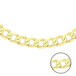 Hatton Garden Close Out Curb Chain Necklace in 9K Gold 24 Inch