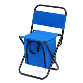 Foldable 2-in-1 Outdoor Stool with Built-in Cooler Bag (Size Stool: 59x27x31 Cm / Storage: 25x25x16