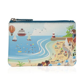 Mala Super Soft Genuine Leather Seaside Cards and Coin Purse (Size 12 x 8 Cm)