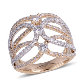 New York Close Out Deal - 14K Yellow and White Gold Diamond (Rnd 3.5 mm) (I1-I2/G-H) Ring 1.500  Ct.