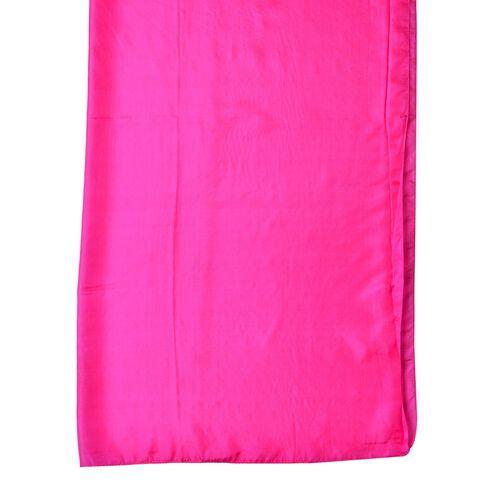 Pantone Collection - 100% Mulberry Silk Fuchsia Colour Scarf (Size 175X90 Cm)
