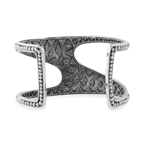 Artisan Crafted - Sterling Silver Bangle (Size 7.5), Silver wt 53.00 Gms