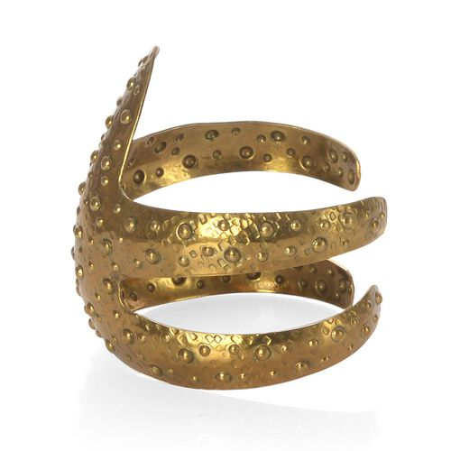 Jewels of India Handicraft Starfish Cuff Bracelet in Goldtone