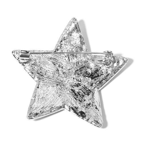 Aurora Borealis Colour Austrian Crystal Star Brooch